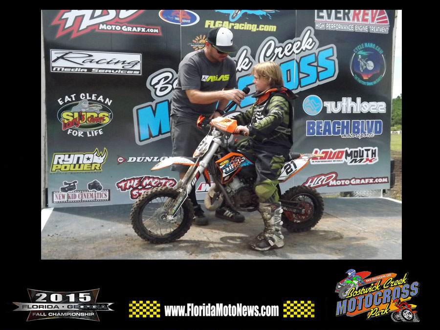 Florida MOTO News - Tyson Longbottom WINS ALL MOTOS in two classes at the 2015 FLGA Fall Championship at Bostwick Creek MX Park.