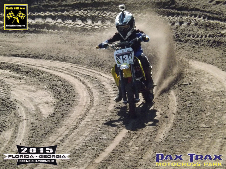 Florida MOTO News Race Report featured rider Caiden Frazzini (COB #13)