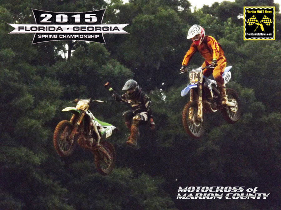 "Florida MOTO News - Featured Photo - Kawasaki rider John Ogrady #210 bails out over ""Hangtime"" at Motocross of Marion County."