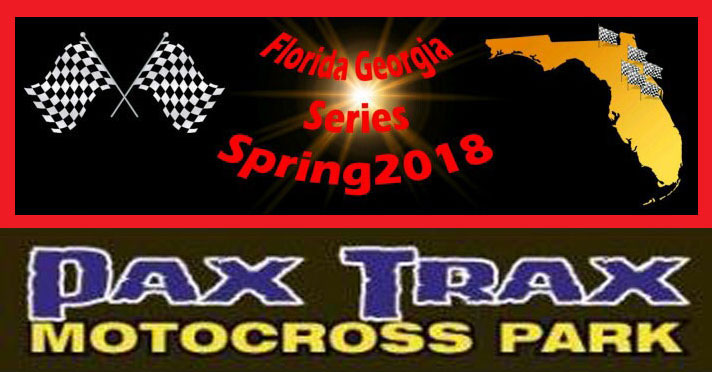 Florida MOTO news racecoverage from the 2018 FL/GA Spring Series, RD #1, at Pax Trax Mx Park