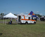 On site ambulance standby at WW Mx.