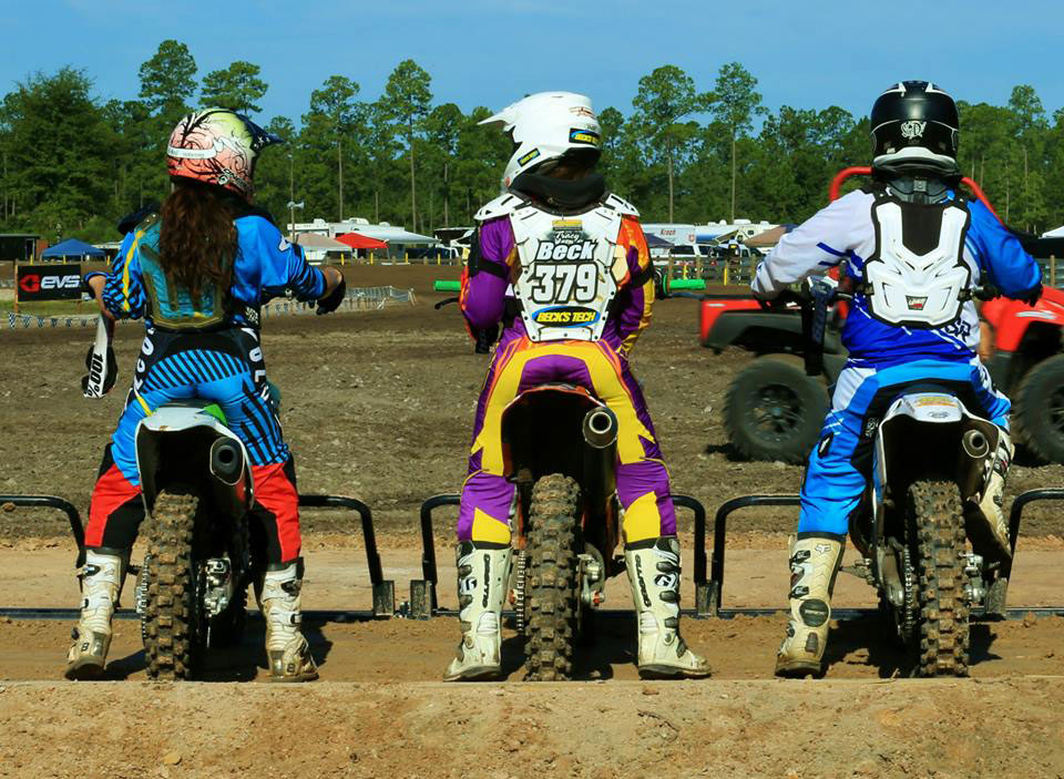 Women and Plus 50 on gate - first race ever held at WW Mx