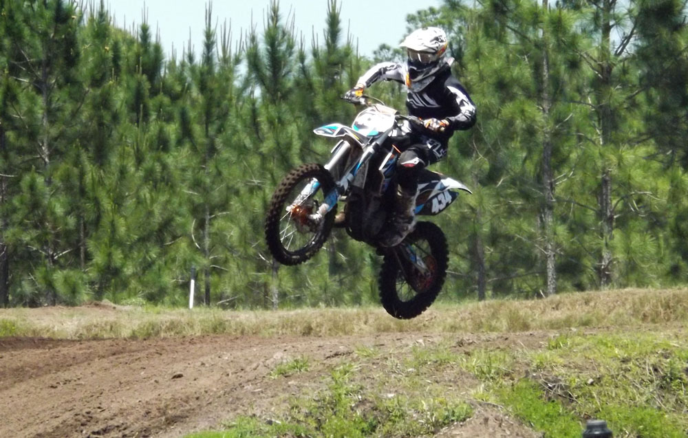 Florida MOTO News - Race Coverage of the 2014 FL/GA Spring Championship race at Bostwick Creek Mx Park - Beck's Tech's Hunter Hawkins (KTM #434)