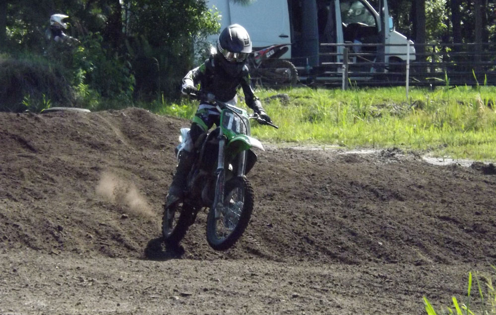 Florida MOTO News - Race Coverage of the 2014 FL/GA Spring Championship race at Bostwick Creek Mx Park - Nate Carr (KAW #711)
