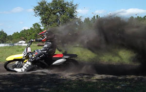 FLMN Featured Rider Max Darling - Huge roost in corner
