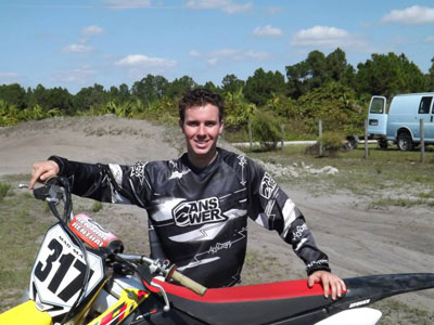 Florida Moto News Featured Rider Max Darling at Sandy Farms Mx
